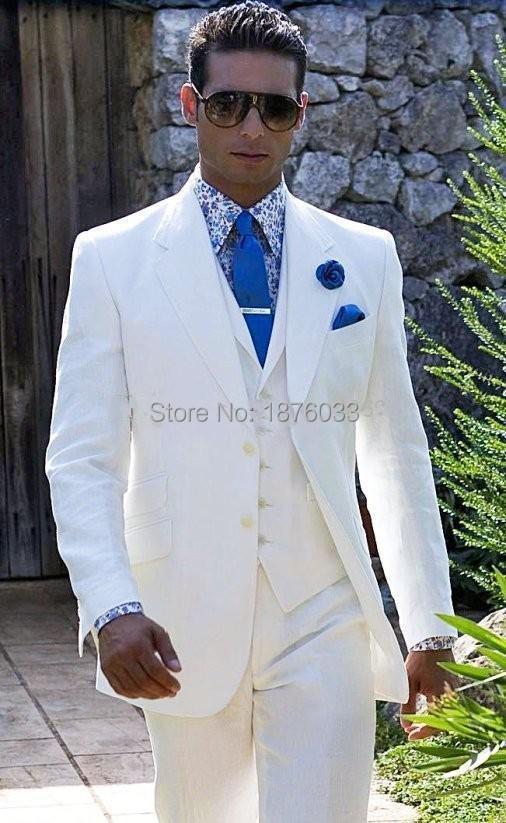 2016 New Style Wedding Dress For Men Ivory Groom Tuxedo