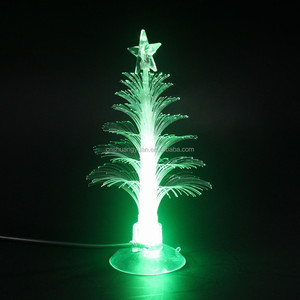 3'' mini color changing usb christmas tree with top star