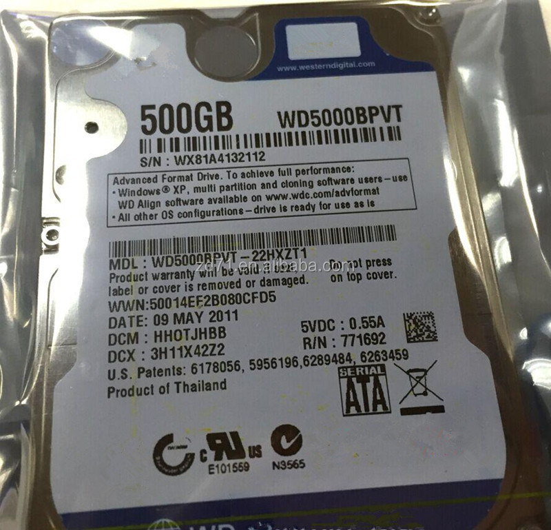 """WD5000BPVT 500GB 2.5 5400 RPM SATA tested in good working condition"""""""