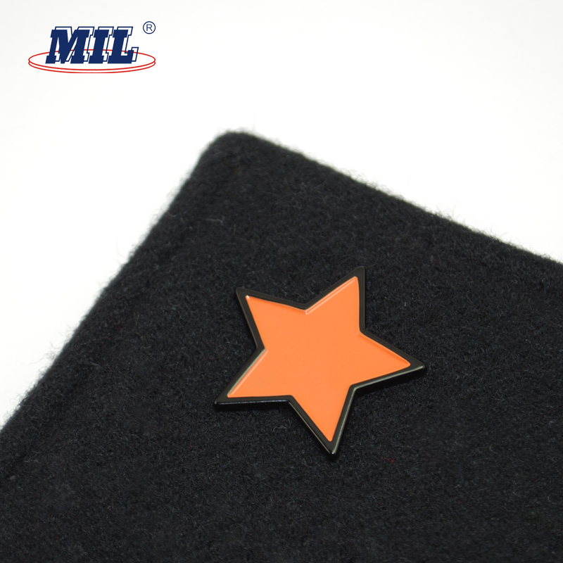 2018 New design metal star enamel badge buttons