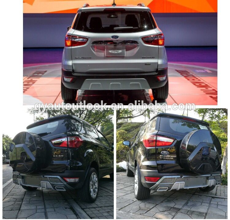 Car Body Kit Car Rear Bumper Protection for Ford Ecosport 2018 up made of PP