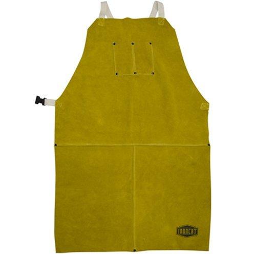 """West Chester IRONCAT 7010 Heat Resistant Split Cowhide Leather Welding Bib Apron, 24"""" W x 36"""" L"""