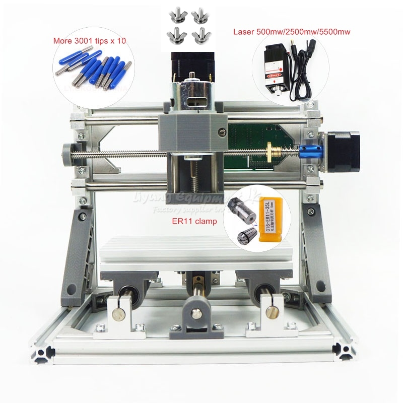Mini <strong>CNC</strong> 1610 PRO 500mw without laser <strong>CNC</strong> engraving machine Pcb Milling Machine Wood Carving machine with GRBL control