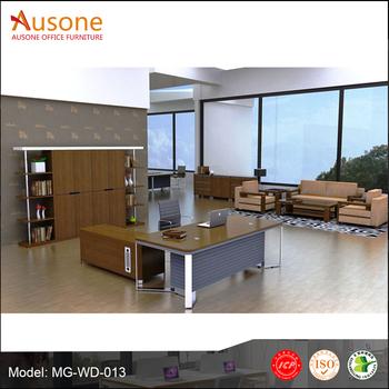 Luxe commerci le meubelen moderne executive bureau kantoor tafel ontwerp hout fineer buy - Moderne kantoorbureaus ...