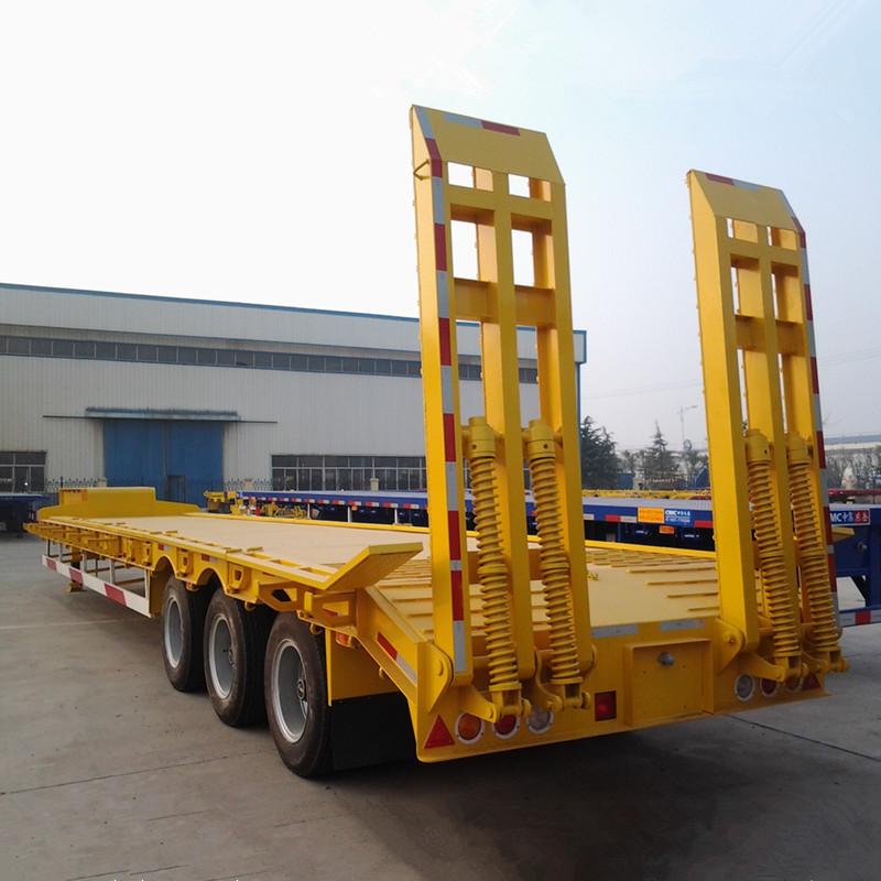 Тяжелый грузовик транспорт 100 тонн 3 оси низкий полуприцеп грузовики и трейлеры
