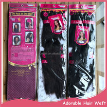 Adorable Natural YAKI Style 4pcs Hair Weaving and 1pc Closure One Pack For Full Head Hair Weaves