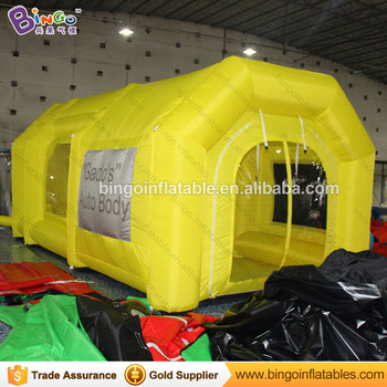 On Sale Yellow Pop Up Inflatable Spray Paint Tanning Booth Tent With