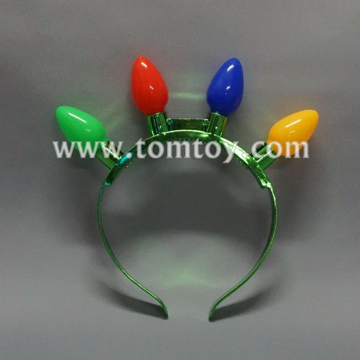 Christmas LED Light Up Bulbs Headband