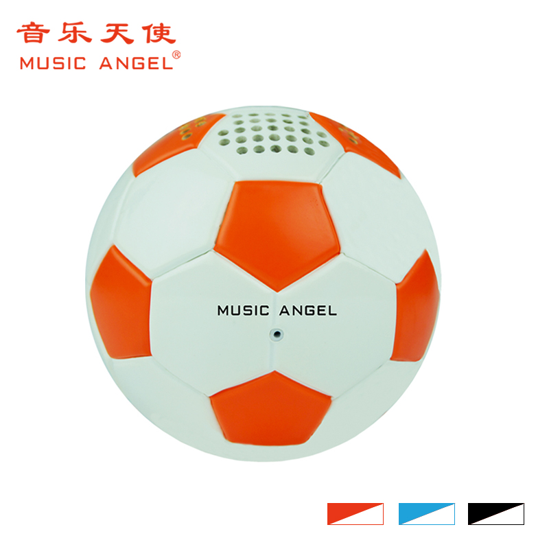 Usb silicon hand grip Football shape speaker for ipad portable sound