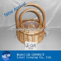 Natural Round Handmade Craft Wicker Basket