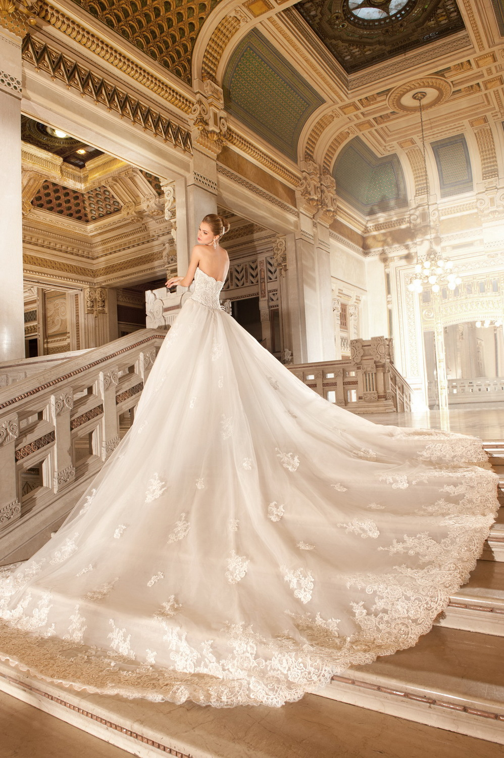 Wedding Gowns With Cathedral Length Train 76