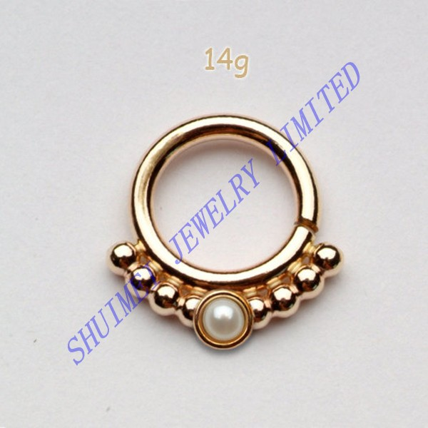 Gold Plated Indian Style Sterling Silver Fake Septum