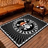 Black Cartoon Anti-Slip Coral Fleece Door Mat With Non Woven Backing