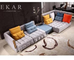 Latest Comfortable Mixed Color Sleeper Couch Large fabric Sofa Bed