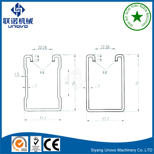 Metal Unistrut C Section Channel Roll Forming Machine(id
