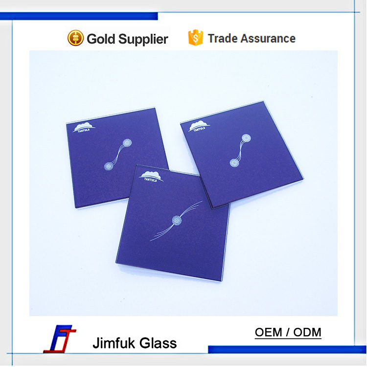 factory custom high quality design tempered intelligent wall switch glass panel , very distinguished.