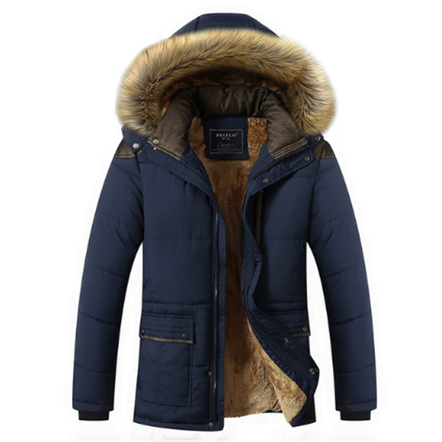 Cheap Thick Quilted Jacket Outdoor Mens Fur Winter Navy Padded Quilted Jacket For Men фото