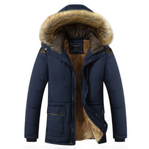 Cheap Thick Quilted Jacket Outdoor Mens Fur Winter Navy Padded Quilted Jacket For Men