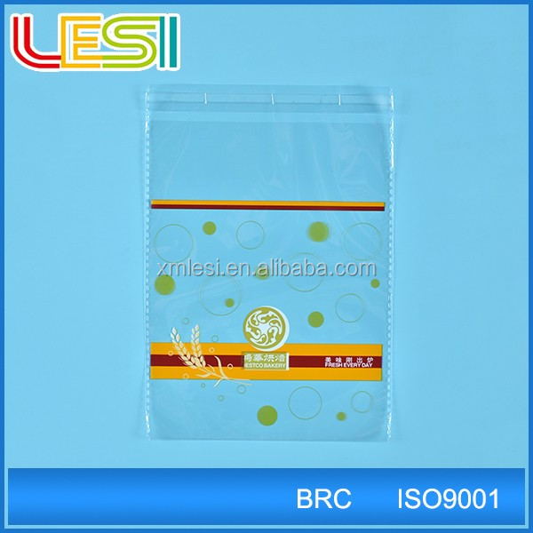 valve bags opp plastic resealable bag for bread