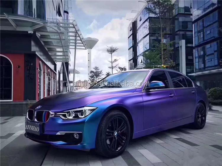 Self Adhesive Electric Matte Diamond Magic Blue Car Color