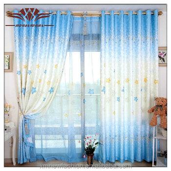 Blauwe Lucht Gordijn,Sterren Gordijn,Prinses Droomt Roterende ...