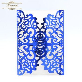 Wholesale mr027 laser cut royal blue metallic paper wedding wholesale mr027 laser cut royal blue metallic paper wedding invitations from mery crafts filmwisefo