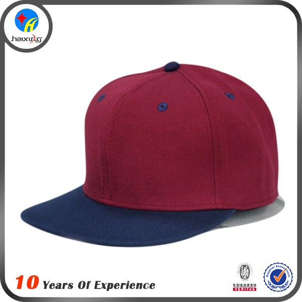 oem snapback hat/red and blue flat bill snapback cap