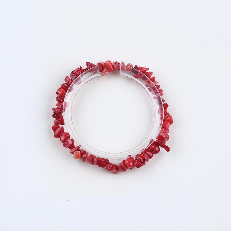 37366bcee1c2 Precio de fábrica Chip piedras preciosas Coral rojo pulsera de perlas