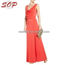 New Fashion <span class=keywords><strong>Red</strong></span> Design Donna Senza Maniche Abiti Da Maxi