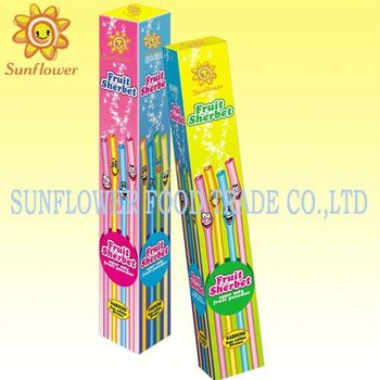 Long Sour Straw Powder Candy