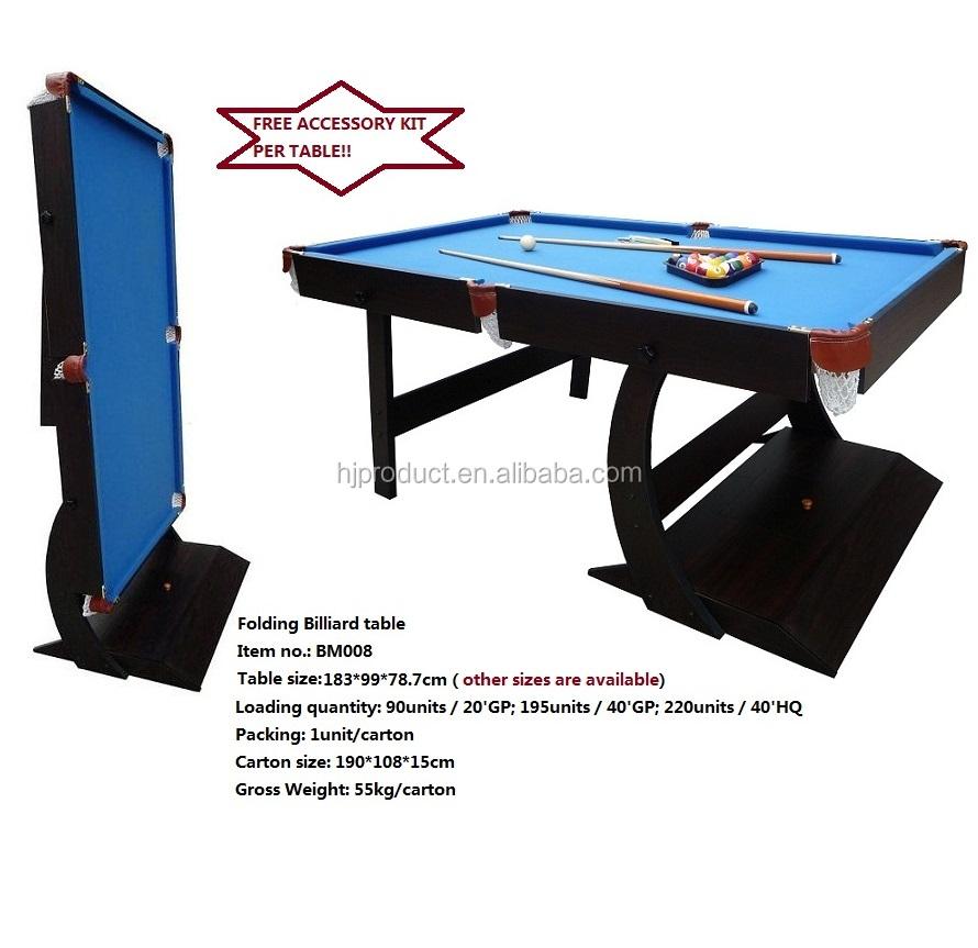 Dongguan Professional Billiard Table Dongguan Professional Billiard - Fold up pool table full size