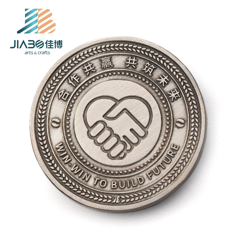 high quality custom metal souvenir antique win win coin