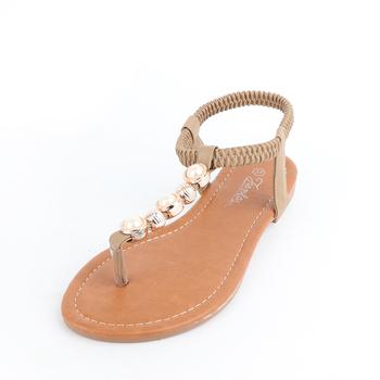 a47b2208b393 2018 China Cheap New Model Summer Beach Beaded Shoes PVC Ladies Simple Flat  Nude Woman Sandal