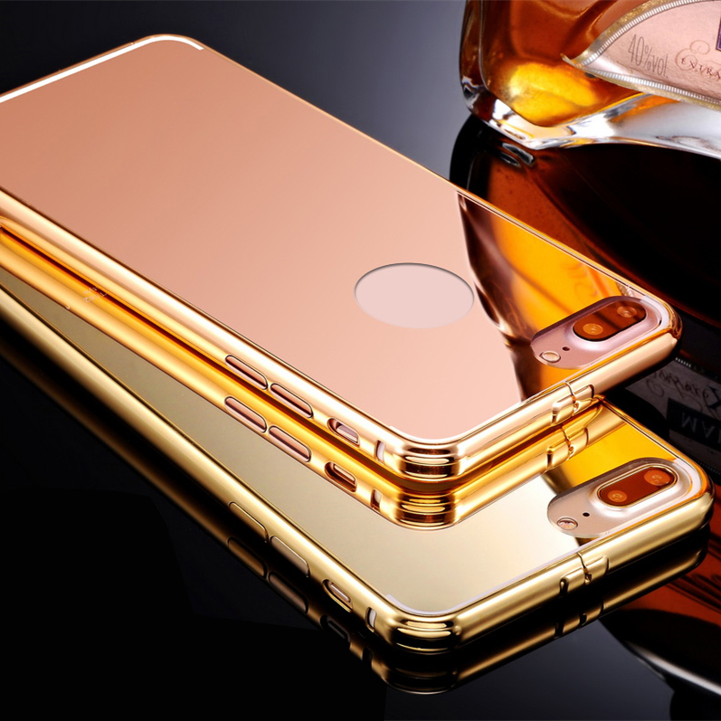 Alibaba Express Luxury Aluminum Metal Bumper Frame Mobile Phone Mirror Case For iphone 6 case