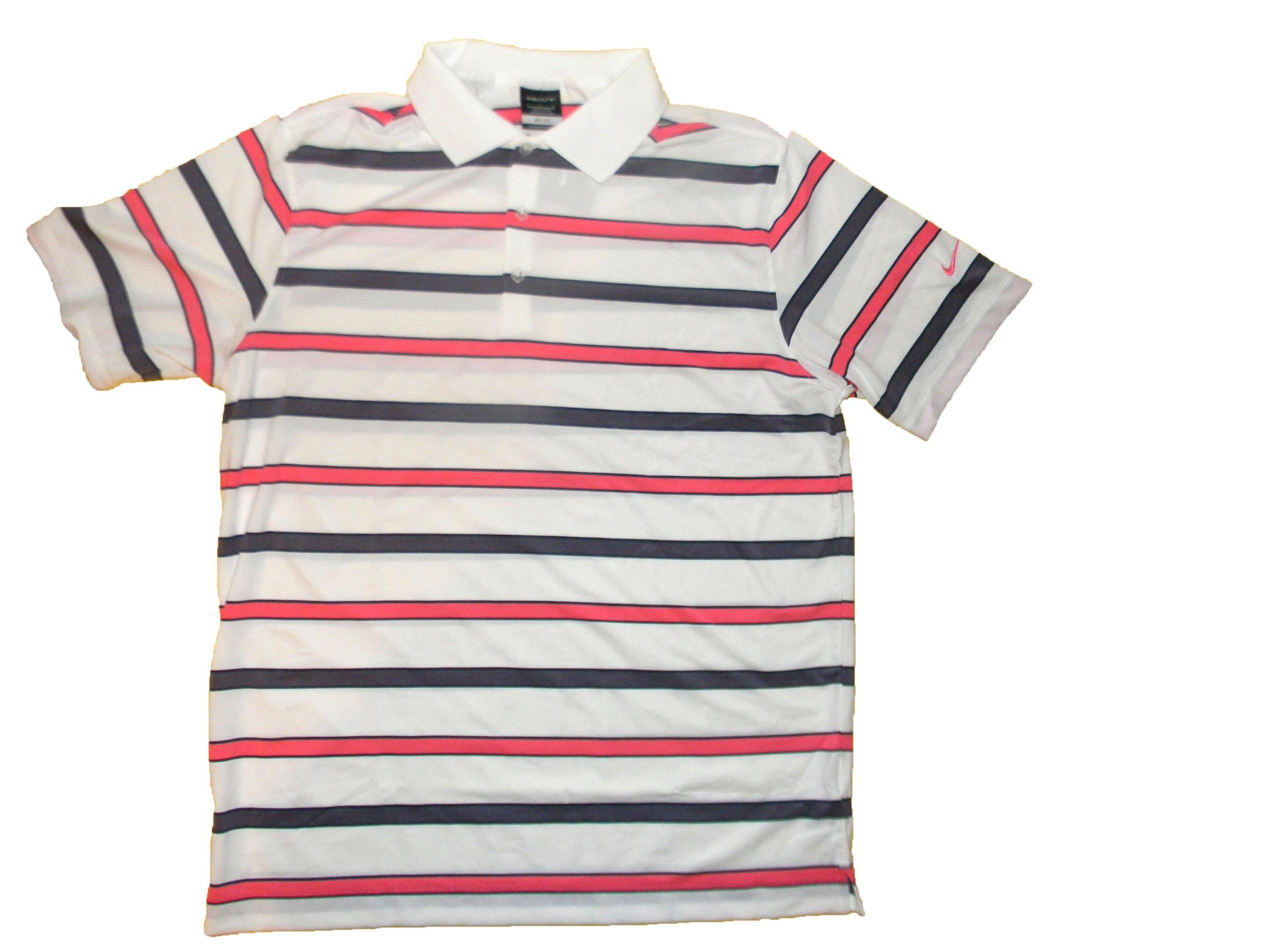 b9e290aed Buy Nike Dri Fit Uv Stripe Men Polo Golf Shirt 597253-100 Large ...