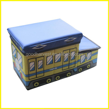 Delicieux Kids School Bus Collapsible Toy Storage Box And Closet Organizer