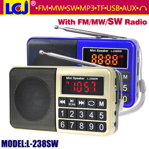 L-238SW portable mini MP3 player FM MW SW radio speaker