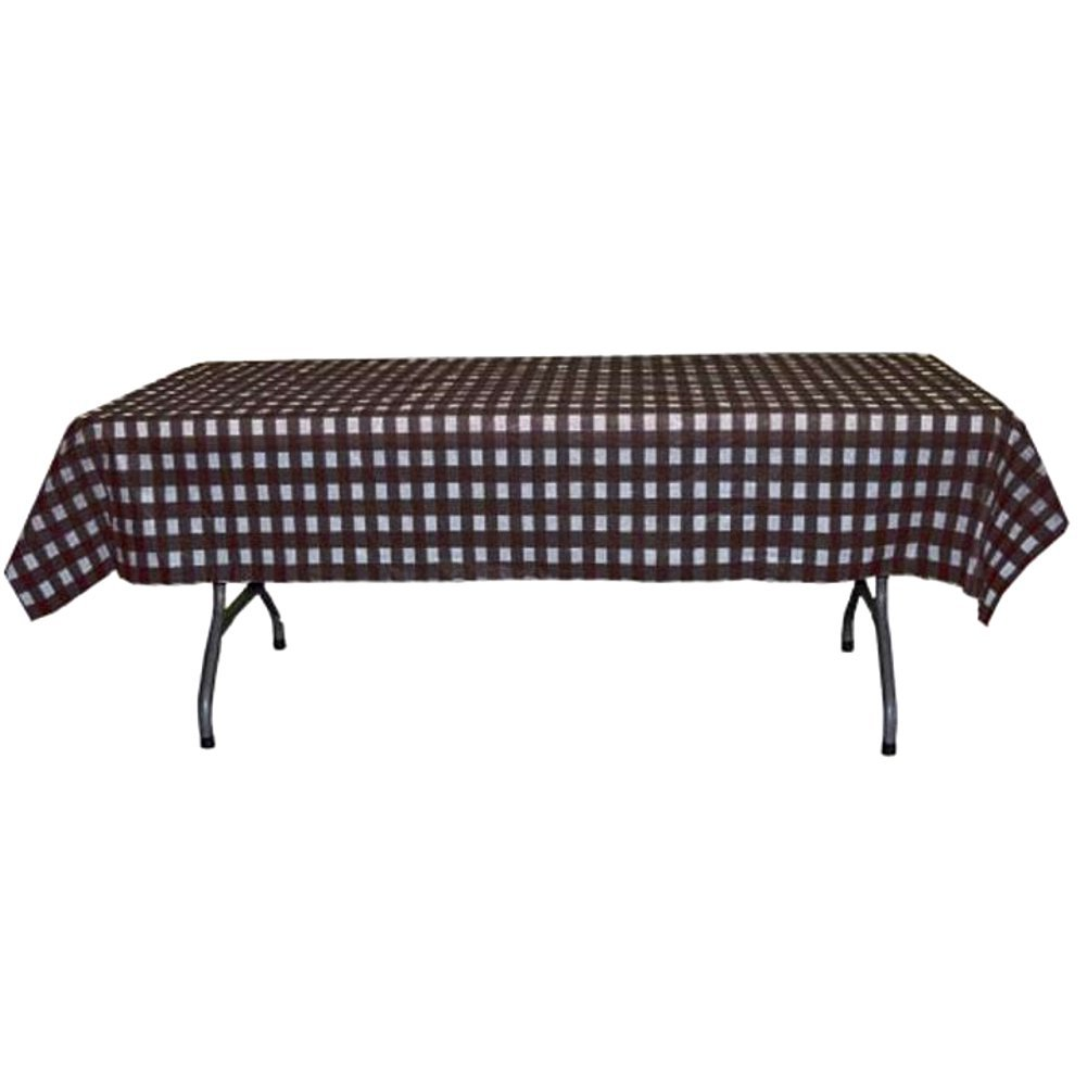 Black and White Checkerboard Plastic Disposable Table Cover (Rectangluar - 54in. W x 108in. L)