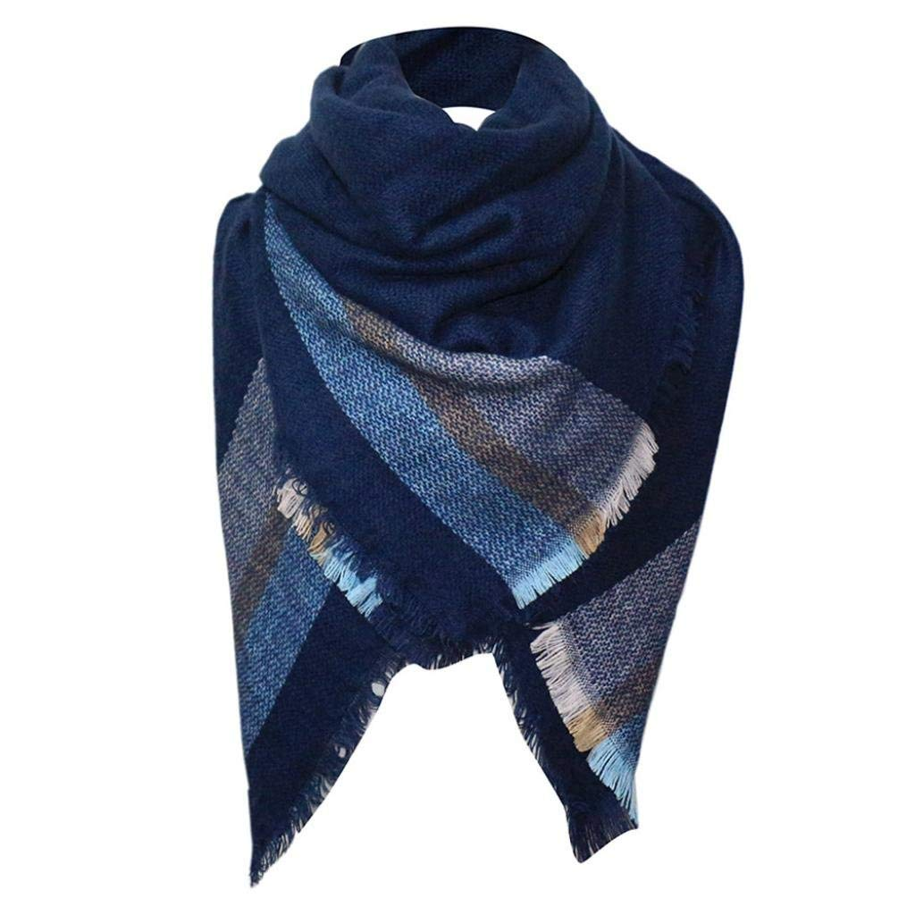 9311179d83a13 Get Quotations · Square Scarf, Kimloog Women And Men Winter Warm Oversize  Plaid Blanket Scarves Tartan Tassels Cotton