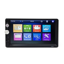 2 Din Car Radio MP5 de coches reproductor de vídeo de 7''HD pantalla táctil teléfono Bluetooth Radio FM estéreo/MP3/MP4/Audio/video/USB Auto electrónica