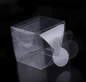 Custom small folding transparent clear pvc pet plastic donut/gift/cake packaging box