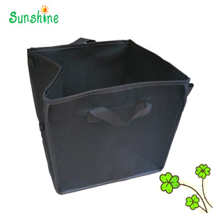 Black piping gardening square grow bags /pots With Handle for Tomatoes and Plants