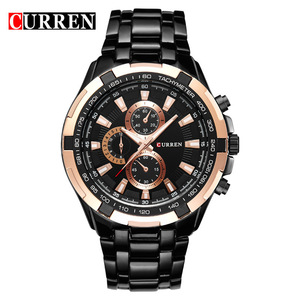 New CURREN 8023 Watch Men Luxury Brand Military Watch Male Full Steel Wristwatches Fashion Waterproof Relogio Masculino OEM ODM