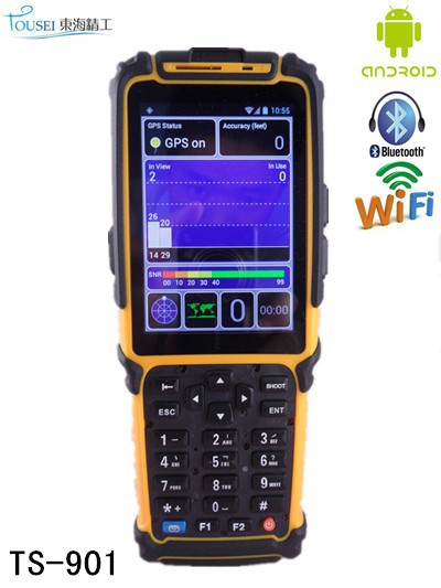 rfid handheld android pda with barcode scanner gps TS-901