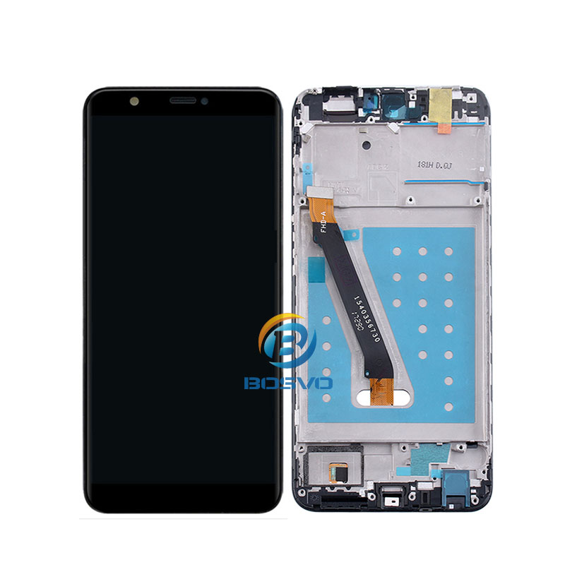 for Huawei P Smart lcd display Enjoy 7S screen with touch with frame digitizer assembly replacement repair parts, Black;white