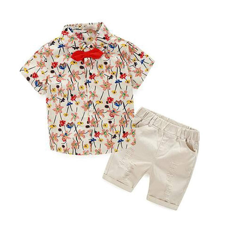 30354893a Get Quotations · JIANLANPTT Kids Baby Boys Summer Set Tropical Flower  Floral Outfits Clothing Set