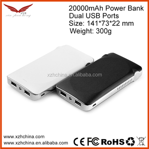 20000mah External Power Bank Backup Dual USB Battery Charger For Cell Phone (white)