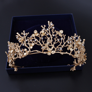 Customized artificial handicraft made in china products indian jewellery wholesale hair crown