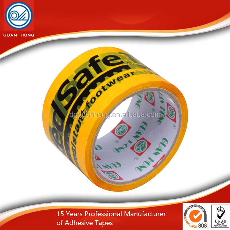Colored 3 Inch Paper Core Water Based Glue Bopp Printed Packing Tape