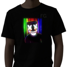 hot selling Factory supply El flash Programmable led t shirt